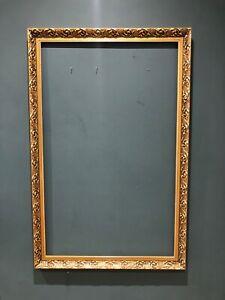 Vintage Very Large Rectangular Ornate Gold Gilt Picture Frame