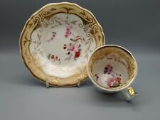 Antique English Porcelain Yates Alcock Staffordshire Coffee Cup & Saucer C1825