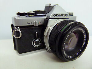 Olympus OM-2 MD 35mm SLR Camera+50mm 1:1.8 Lens+Manual SERVICED EXCELLENT