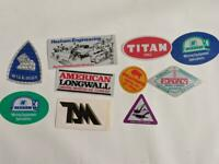 Retro Mining Sticker - 10 Stickers as pictured (Lot 4)