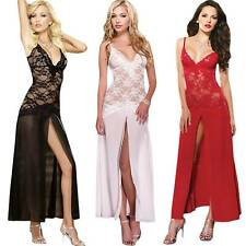 Women Sexy Sleepwear Gown Nightwear Pajama Lingerie Nightdress Lace Robes Bridal
