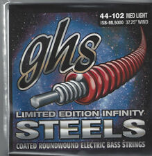 GHS ISB-ML5000 44-102 MED LIGHT Limited Edition Infinity Steels Bass Strings USA