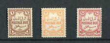 Transjordan 1942 Postage dues set of 3 SG.D230/32 MNH
