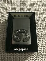 US ARMY AIRBORNE PARATROOPER JUMP WINGS ZIPPO CIGARETTE LIGHTER W/BOX