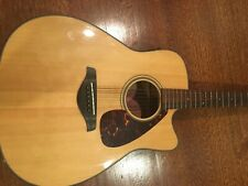Yamaha FGX700SC Acoustic-Electric Folk Guitar Natural Cutaway NEW with cover