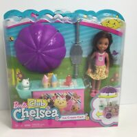 Barbie Club Chelsea Ice Cream Cart Doll And Playset Mattel 2016 New