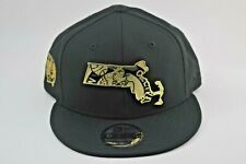 New Era Boston Celtics 9Fifty 950 Snapback Hat Black w/ Gold Metal Badge