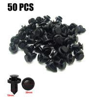 50x 10mm Trou Plastique Pare-chocs Et Garde-Boue Clips Attache De Fixation