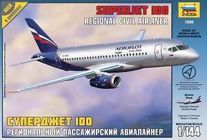 Zvezda Model 7009 Russian Regional Civil Airliner SUPERJET 100 Scale 1/144