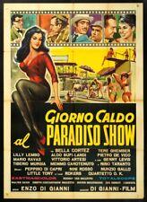 GIORNO CALDO AL PARADISO SHOW, NINI ROSSO, ROKERS, DI CAPRI, MANIFESTO 2F POSTER