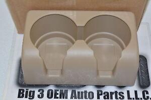 2004-2012 Chevrolet Colorado Rear Seat Tan Cup Holder Insert new OEM 19121876