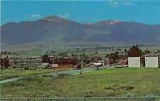 Montana postcard Deer Lodge panorama view of town & Mt. Powell