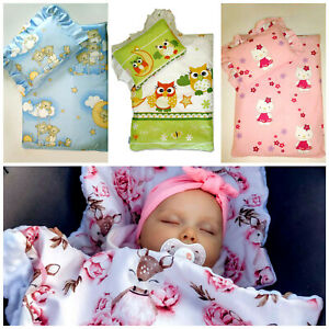 LUX 4 pieces SET ANTI-ALLERGY BEDDING FOR TROLLEY MOSES BASKET 100% Cotton