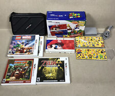 New Nintendo 3DS Super Mario 3D Land Console With 4 Games, Storage Case