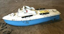 Vintage Clockwork Tin Toy Torpedo Boat, Sutcliffe, Tinplate, Wind Up, Retro 60s