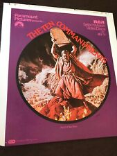 RCA CED SelectaVision VideoDiscs Movie The 10 Commandments Part 2Of Two Discs