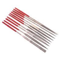 10pcs Diamond Needle File Set Sharpening 3X140mm for Glass Ceramic Carbide zxc