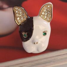 R207 Betsey Johnson Puppy Doggie Bull Terrier Hound Dog Ring US