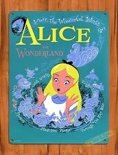"TIN SIGN Walt Disney ""Alice In Wonderland"" Tea Cups Art Ride Poster"
