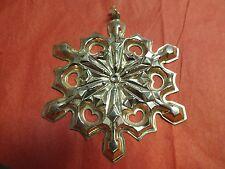 Vintage 1979 Gorham Sterling Silver Snowflake Christmas Tree Ornament