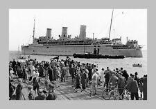 EMPRESS OF JAPAN Port Melb 1st Contingent 2nd AIF 1940 modern digital Postcard