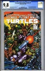 TEENAGE MUTANT NINJA TURTLES #7 CGC 9.8 Mirage Studios EASTMAN (1st print)