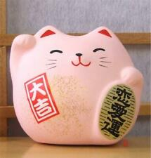 Maneki Neko Feng Shui Lucky pink cat for love