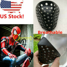 Spiderman Faceshell Mask Mouth Breathable Soft Rubbe Black Half Mask For Cosplay