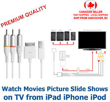 30 Pin to RCA Composite AV TV USB Adapter cable for iPhone 4 4s iPad 2 3 iPod