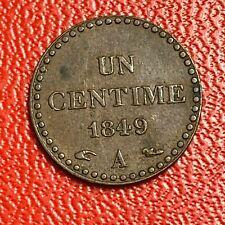 #5494 - 1 centime 1849 Dupré SUP - FACTURE