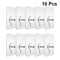 10pcs Picture Screw Stickers Nails Traceless Acrylic Invisible Picture Hooks