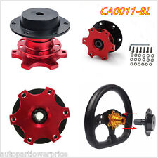 Red Car Steering Wheel Quick Release Removable Hub Adapter Snap Off Boss Kit
