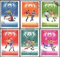 Rumänien 3506-3511 (kompl.Ausg.) gestempelt 1978 Fußball-WM ´78, Argentinien