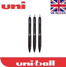 3 x Uni-ball Signo 307 0.7mm Tip Gel Ink Rollerball Black Pen NEW