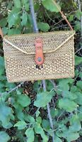 Bali island handwoven rattan bag straw purse handmade wicker crossbody