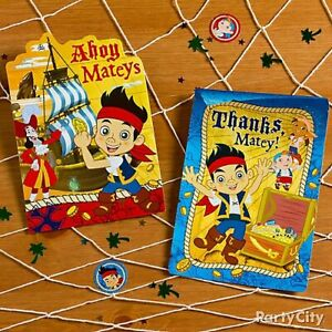 Jake And The Neverland Pirates Party Invitations & Thank You Cards - Set of 2