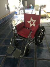 "American Girl Doll Wheelchair                            Berry Red For 18"" Dolls"