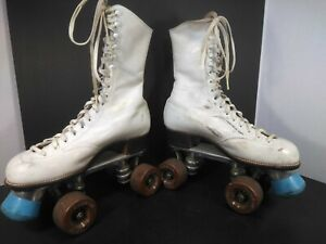 Vintage Women's Betty Lytle Hyde Chicago White Size 6.5 1/2 narrow Roller Skates