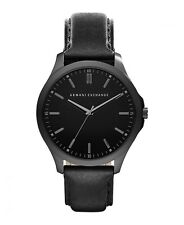 Brand New Armani Exchange AX2148 Black Leather Band Men's Wrist Watch FREE POST