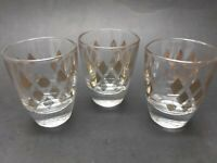Vintage France Gold Shot Glasses - Set of 3