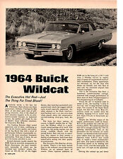 1964 BUICK WILDCAT 425/360 HP ~  ORIGINAL 6-PAGE ROAD TEST / ARTICLE / AD