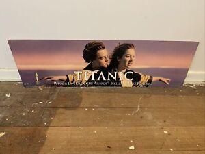 VINTAGE RARE TITANIC JACK ROSE MOVIE CARDBOARD WINSLET DICAPRIO DISPLAY