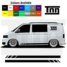 Side Stripes Stickers Decals For VW Volkswagen Transporter T4 T5 T6 Campervan