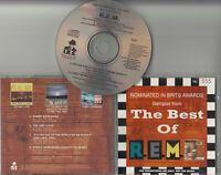 R.E.M. Sampler From The Best Of 1987 UK 4-track promo only CD