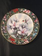 More details for the ruby throated humming bird by lena liu w l george fine china plate