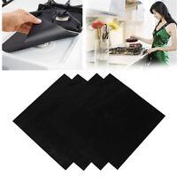 4pcs Reusable Non-stick Foil Gas Range Stovetop Burner Protector Liner Cover Mat