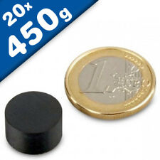 5 Pinnwand Magnete D25x7 mm Rund Gold Büro Kühlschrank Tafel Schule Ferrit
