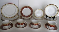 Wedgwood China Tortoiseshell Pattern Dinner Setting for 4 including Soup Bowls