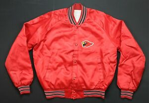 Rare VTG Arizona Cardinals Satin Varsity Jacket 70s 80s Phoenix St. Louis Red