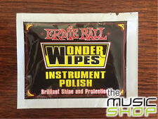 20 x Ernie Ball Wonder Wipes Instrument/Guitar Polish - 20 Individual Packs